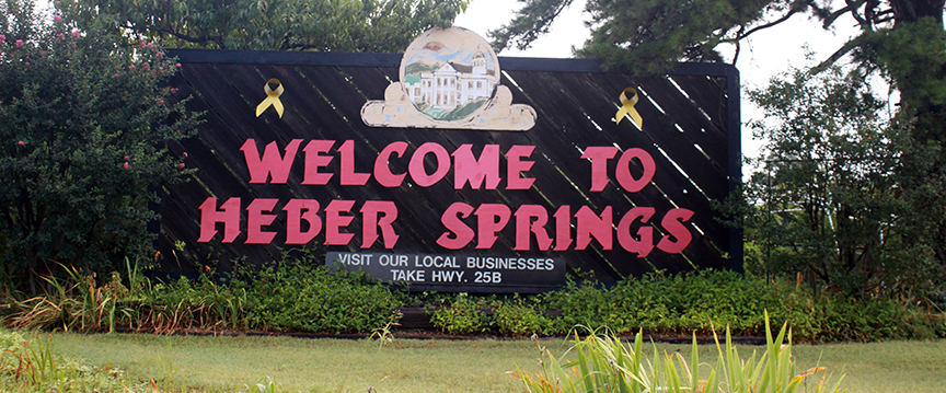 Heber Springs, AR Welcome Sign