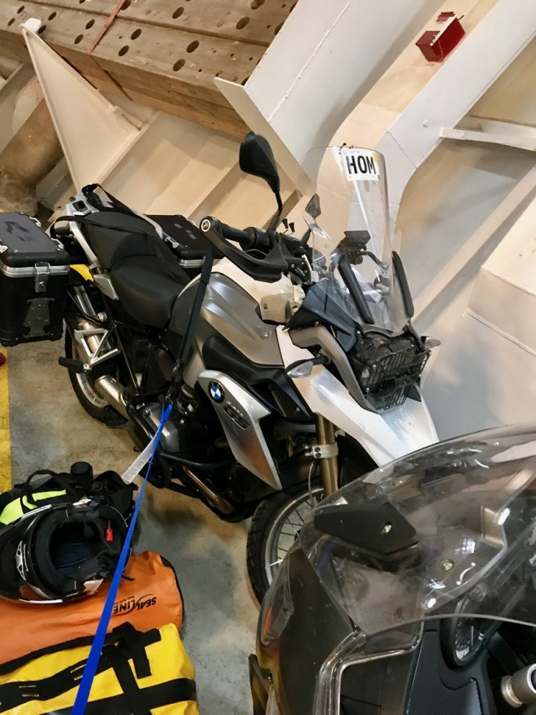 Bikes below deck