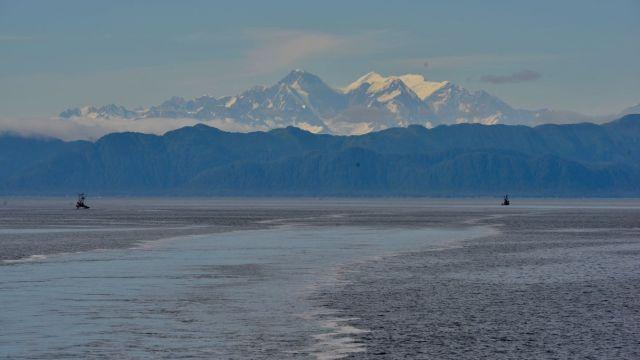 Looking back (leaving Juneau)